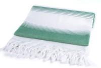 Sathya Turkish Cotton Bath Towel (1 Bath Towel, Green, White)