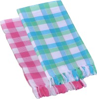 Suam Cotton Bath Towel Pack Of 2 Bath Towel, Pink, Blue