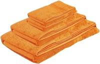 Pipal Cotton Set Of Towels 1 Ladies Bath Towel, 1 Gents Bath Towel, 2 Hand Towel, Orange
