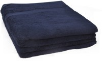 Phoenix International Cotton Bath Towel Blue Cotton Bath Towel - Set Of 2, Blue