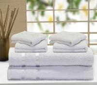 Story@home Cotton Bath & Hand Towel Set 2 Pc Bath Towel, 4 Pc Hand Towel, White