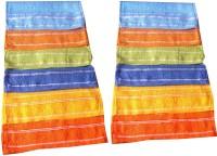 Xy Decor Cotton Face Towel Set (12 Pcs Of Cotton Face Towel, Multicolour)