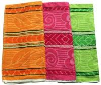 Home Cotton Bath Towel Set 3 Piece Bath Towel, Multicolor