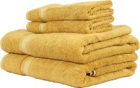 Trident Organica Cotton Bath & Hand Towel Set 2 Bath Towel, 2 Hand Towel, Gold
