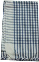 Tidy Cotton Bath Towel (Bath Towel 1 Piece, Blue, White)