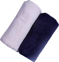 Madras Cotton Cotton Bath Towel 2 Bath Towel, Blue, Half Pink