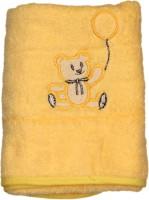Belle Maison Fancy Cotton Baby Towel (Kids Bath Towel, Yellow)
