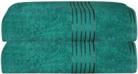 GRJ INDIA Cotton Bath Towel Set Of 2 Bath Towels, Green