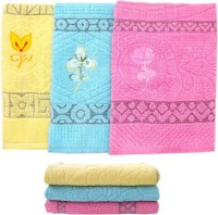 Hatchlingz Cotton Set Of Towels 3 Bath Towel, Pink, Yellow, Green