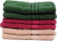 The Home Story Green, Maroon, Brown Set Of 6 Napkins
