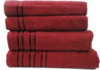 Wow-But-How Cotton Bath, Hand & Face Towel Set Bath Towel, Hand Towel, Face Towel, Maroon