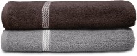 Swiss Republic Cotton Bath Towel (2 Bath Towels, Dark Grey, Light Grey)