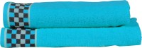 RR TEXTILE HOUSE PRESENTS LAURA HIS AND HER TOWEL SET OF 2 Cotton Bath, Hand & Face Towel Set 2, Blue