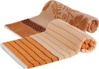Goodway Stripes Cotton Bath Towel (Pack Of 2 Bath Towel, Brown, Orange)