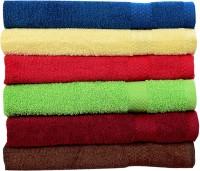 Rakshan Cotton Bath Towel Set (Pack Of Towel 6, Blue, Cream, Red, Green, Maroon, Brown)
