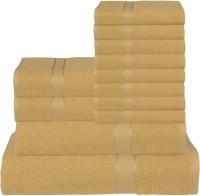 RR Textile House Cotton Bath, Hand & Face Towel Set 8 Face Towel, 2 Hand Towel, 1 Ladies Towel, 1 Bath Towel, Brown