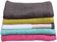 ShopSince Cotton Hand Towel ShopSince Multicolor Plain Cotton Hand Towels Set Of 5, Multicolor