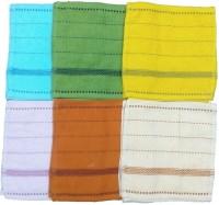 Mikado Face Towels Cotton Face Towel 6 Face Towels, 1 Pieces Of Each Colour, Multicolor