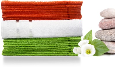 Story@home Cotton Bath & Face Towel Set 10 Pc Face Towel + 1 Pc Bath Towel + 10 Pc Face Towel, Orange