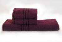Trident Cotton Bath & Hand Towel Set 1 Bath, 2 Hand Towel, Dark Purple