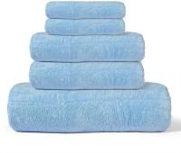 Cortina Cotton Bath, Hand & Face Towel Set 1 Towel, 2 Face Towel, 2 Hand Towel, Blue