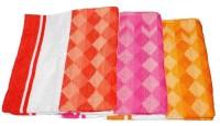 Exotic Cotton Bath Towel Set Of 3, Pink