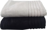 Earthrosystem Cotton Bath Towel 2 Bath Towel, Black And White