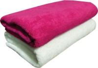 YNA Solid Bath Collection Cotton Bath Towel (2 Bath Towel, White)