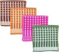 Mikado Face Towels Cotton Face Towel 12 Face Towels, 3 Pieces Of Each Colour, Multicolor - BTWE6GQ9FZFNBQU5