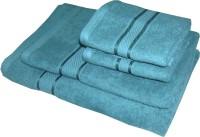 Satcap Cotton Set Of Towels 1 Men Bath Towel, 1 Women Bath Towel, 2 Hand Towels, Green