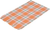 Sathya Cotton Bath Towel 1 Bath Towel, Orange, White, Green