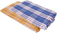 Suam Cotton Bath Towel Pack Of 2 Bath Towel, Blue, Orange