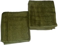 Style Home Cotton Hand Towel Sets Of 2 Hand Towel, Green