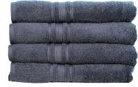 Rakshan Cotton Bath Towel Set (Pack Of Towel 4, Grey)