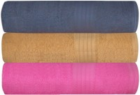 GRJ INDIA Cotton Bath Towel Set Of 3 Bath Towels, Pink