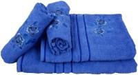 Sassoon Cotton Bath & Hand Towel Set 2 Hand Towels, 1 Male Bath Towel, 1 Female Bath Towel, Blue
