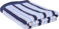 Divine Overseas Cotton Bath Towel, Multi-purpose Towel (One Piece Bath Towel, Navy Blue Multi Strips)