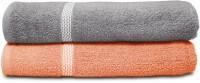 Swiss Republic Cotton Bath Towel (2 Bath Towels, Dark Grey, Light Pink) - BTWEGMTUNUU8DSGD