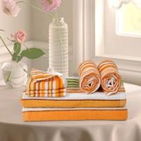 Cortina Cotton Bath, Hand & Face Towel Set 2PC Hand Towel Set, 2PC Bath Towel Set, 2PC Face Towel Set, Orange