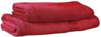 V Brown Cotton Baby Towel (2 Bath Towel, Red)