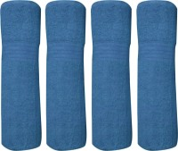 Bombay Dyeing Cotton Bath Towel Set 4 PCS CAR TOWEL SET EXTRA LARGE SIZE, NAVY BLUE