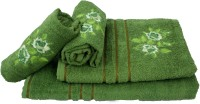 Sassoon Cotton Bath & Hand Towel Set 2 Hand Towels, 1 Male Bath Towel, 1 Female Bath Towel, Green