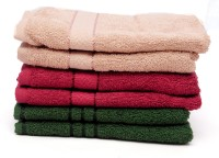 The Home Story Brown, Maroon, Green Set Of 6 Napkins