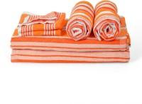 Cortina Cotton Bath, Hand & Face Towel Set 2PC Hand Towel Set, 2PC Bath Towel Set, 2PC Face Towel Set, Orange - BTWEJDRT83ZAKTG5