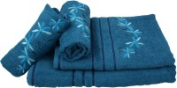 Sassoon Cotton Bath & Hand Towel Set 2 Hand Towels, 1 Male Bath Towel, 1 Female Bath Towel, Dark Blue