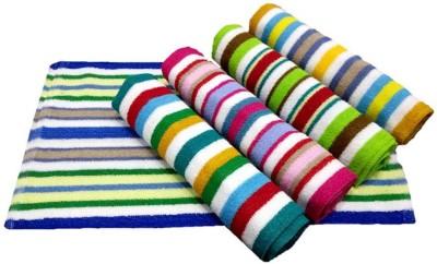 ShopSince Cotton Hand Towel Multicolour Cotton Hand Towel Set Of 5, Multicolor