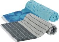 Goodway Stripes Cotton Bath Towel (Pack Of 2 Bath Towel, Blue, Grey)