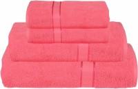 RR Textile House Cotton Bath, Hand & Face Towel Set Ladies Towel 1, Bath Towel 2, Hand Towel, Pink