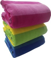 Just For Bath By Bhavik Cotton Bath Towel, Beach Towel, Pool/Beach Towel 3 Pcs Bath Towel, Blue, Yellow, Pink