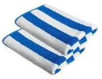 SS Cotton Terry Bath Towel Bath Towel, White With Blue Lining
